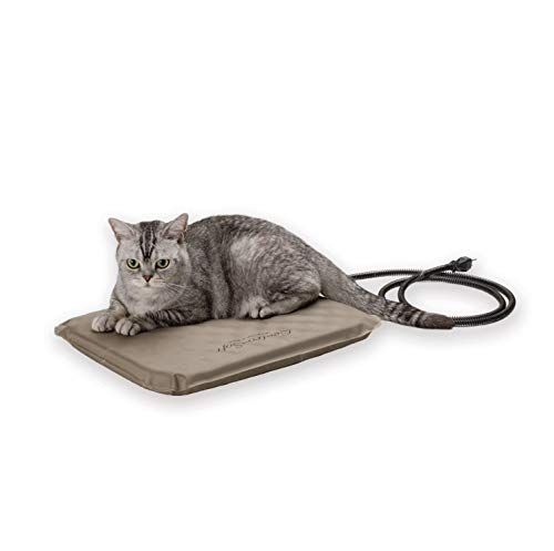 K&H Pet Products Lectro-Soft Outdoor Heated Pet Bed Small Tan 14' x 18' 20W