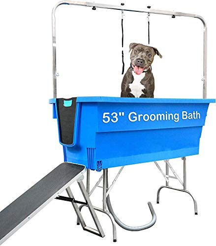Gravitis Pet Dog Booster Bath – Portable mobile pet washing bath complete with grooming arm