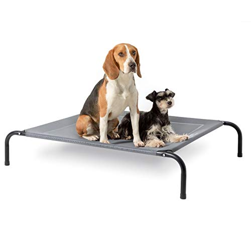 Bedsure Elevated Dog Bed for Small Dog Waterproof Raised Cooling Bed Outdoor, 90x63x20cm