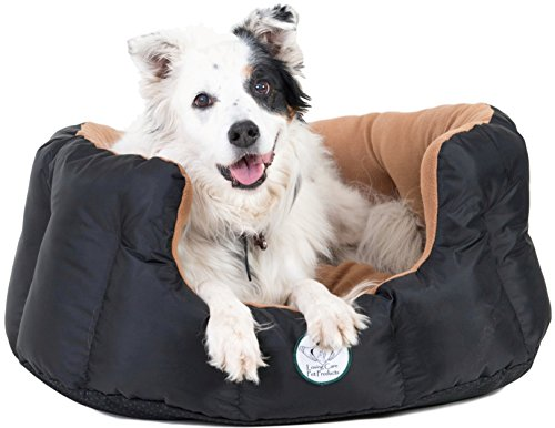 Loving Care Pet Products Ultra Supreme Nesting Style Pet Bed (XXL = 87cm L x 84cm W x 30cm H, GOLD, Black and Brown, Tan, Beige).