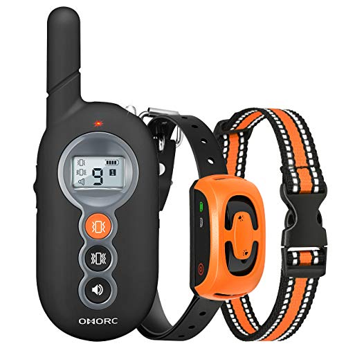 Dog Training Collar with Remote Controller with 3 Training Modes, Instant/Continued Vibration, Beep, 1-9 Level, Light Interaction, up to 300m Remote Range & IP67 Waterproof Outdoor Dog Training Device