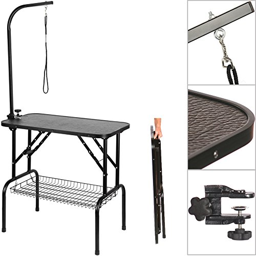Dog Cat Grooming Table Adjustable Portable Foldable Non Slip Feet Arm Noose - Smart