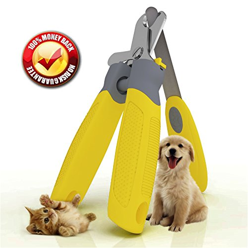 'Trim-Pet' Professional Vet Quality Nail Clippers ~ Razor Sharp Stainless Steel Blades With Safety Guard ~ Ergonomic Designed Handles For Easy Precise Cutting ~ Groom Small, Medium Or Large Dogs And Cats ~ Nail Trimmers Designed By Veterinarians ~ Trim Animal Nails With Total Confidence (FREE Bonus Nail And Claw File) 'Healthy Pet Grooming' ~ LIFETIME Money Back Guarantee!