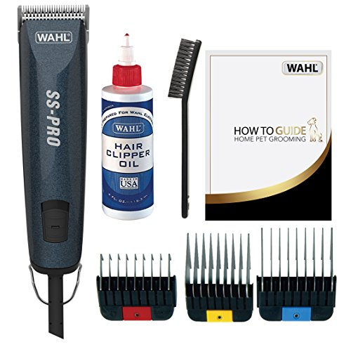 Wahl Dog Clippers, SS Pro Premium Dog Grooming Kit, Full Coat Dog Grooming Clippers for All Coat Types, Low Noise Ccorded Pet Clippers