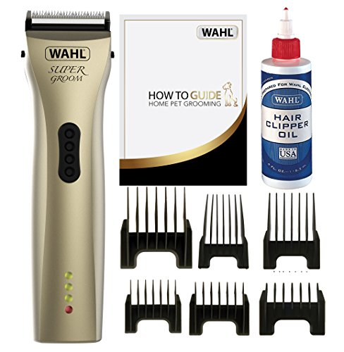 Wahl Dog Clippers, Supergroom Premium Dog Grooming Kit, Full Coat Dog Grooming Clippers for All Coat Types, Low Noise Cordless Pet Clippers